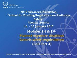 2017 Advanced Workshop School for Drafting Regulations on
