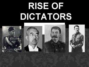 RISE OF DICTATORS SOVIET UNION JOSEPH STALIN SYSTEM