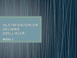 LETM SSTEMLER GELM ZELLKLER MODL 3 LETM SSTEMLER