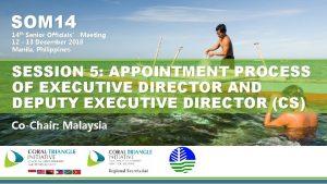 SOM 14 14 th Senior Officials Meeting 12