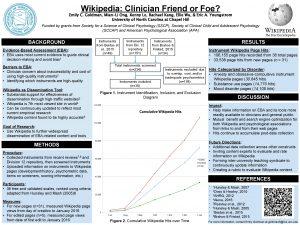 Wikipedia Clinician Friend or Foe Emily C Goldman
