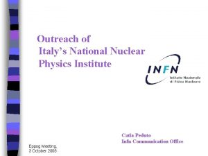 Outreach of Italys National Nuclear Physics Institute Eppog