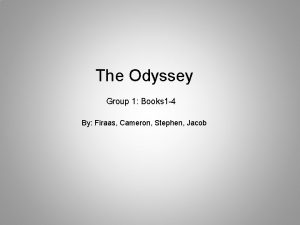 The Odyssey Group 1 Books 1 4 By