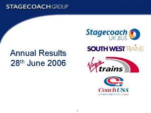 Annual Results 28 th June 2006 1 Annual