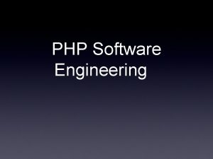 PHP Software Engineering Programming Languages Language Features Paradigms