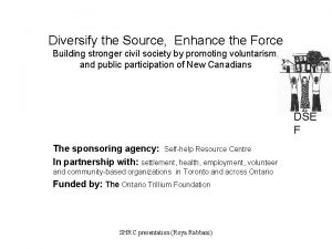 Diversify the Source Enhance the Force Building stronger