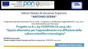Istituto Statale di Istruzione Superiore ANTONIO SERRA Programma