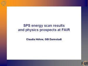 SPS energy scan results and physics prospects at