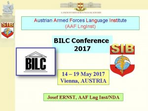 Austrian Armed Forces Language Institute AAF Lng Inst