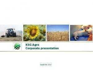KSG Agro Corporate presentation September 2014 Disclaimer The