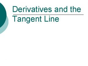 Derivatives and the Tangent Line Blast from the