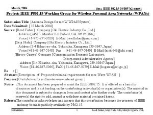 March 2004 doc IEEE 802 15 040097 r