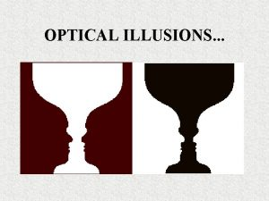 OPTICAL ILLUSIONS Optical Illusions Scientists must be sure