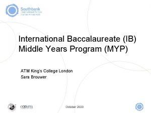 International Baccalaureate IB Middle Years Program MYP ATM