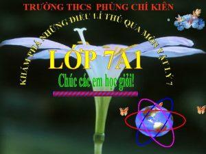 TRNG THCS PHNG CH KIN KIM TRA BI