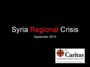 Syria Regional Crisis September 2013 Quick stats Over
