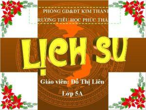PHNG GDT KIM THNH TRNG TIU HC PHC