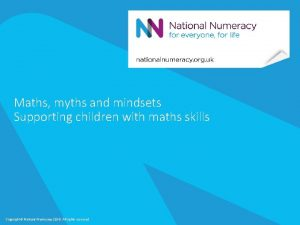 Maths myths and mindsets Supporting children with maths