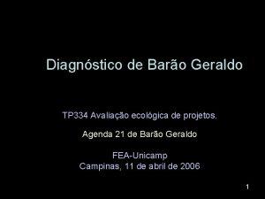 Diagnstico de Baro Geraldo TP 334 Avaliao ecolgica