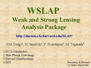 WSLAP Weak and Strong Lensing Analysis Package http