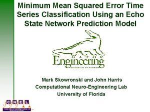 Minimum Mean Squared Error Time Series Classification Using
