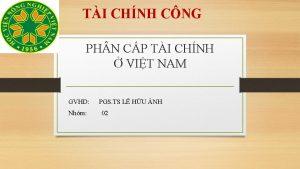 TI CHNH CNG PH N CP TI CHNH