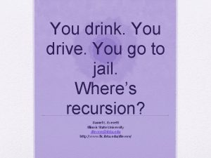 You drink You drive You go to jail