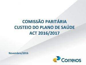 COMISSO PARITRIA CUSTEIO DO PLANO DE SADE ACT