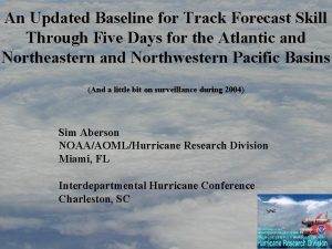 An Updated Baseline for Track Forecast Skill Through