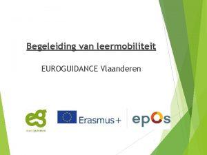 Begeleiding van leermobiliteit EUROGUIDANCE Vlaanderen 1 Inleiding The
