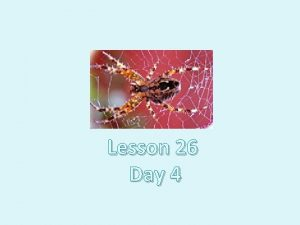 Charlottes Web Lesson 26 Day 4 Question of