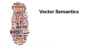 Vector Semantics Dan Jurafsky Why vector models of