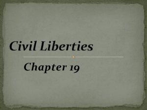 Civil Liberties Chapter 19 Unalienable Rights The Constitution
