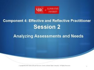 Component 4 Effective and Reflective Practitioner Session 2