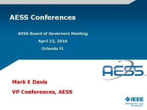 AESS Conferences AESS Board of Governors Meeting April