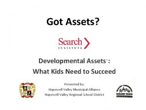 Got Assets Developmental Assets What Kids Need to