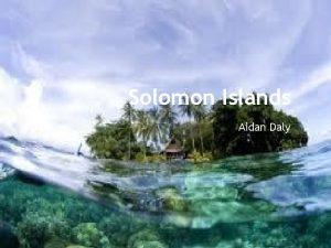 Solomon Islands Aidan Daly Government The Solomon Islands