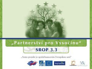 Operan program Vzdlvn pro konkurenceschopnost OP VK Tvorba