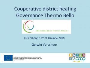 Cooperative district heating Governance Thermo Bello Culemborg 13