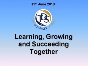11 th June 2018 Learning Growing and Succeeding
