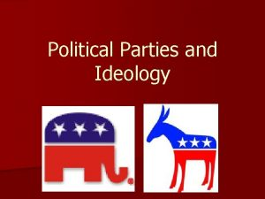 Political Parties and Ideology What is a Party