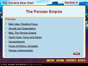 The Ancient Near East The Persian Empire Preview