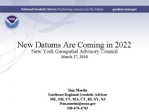 New Datums Are Coming in 2022 New York