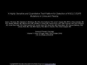 A Highly Sensitive and Quantitative Test Platform for