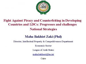 Fight Against Piracy and Counterfeiting in Developing Countries