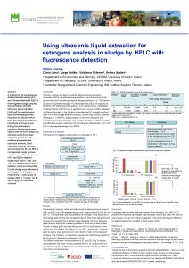Using ultrasonic liquid extraction for estrogens analysis in