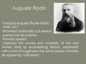 Auguste Rodin Franois Auguste Rene Rodin 1840 1917
