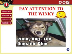 PAY ATTENTION TO THE WINKY Section 2 Page