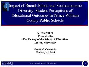 Impact of Racial Ethnic and Socioeconomic Diversity Student