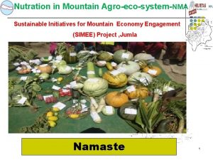 Nutration in Mountain AgroecosystemNMA Sustainable Initiatives for Mountain